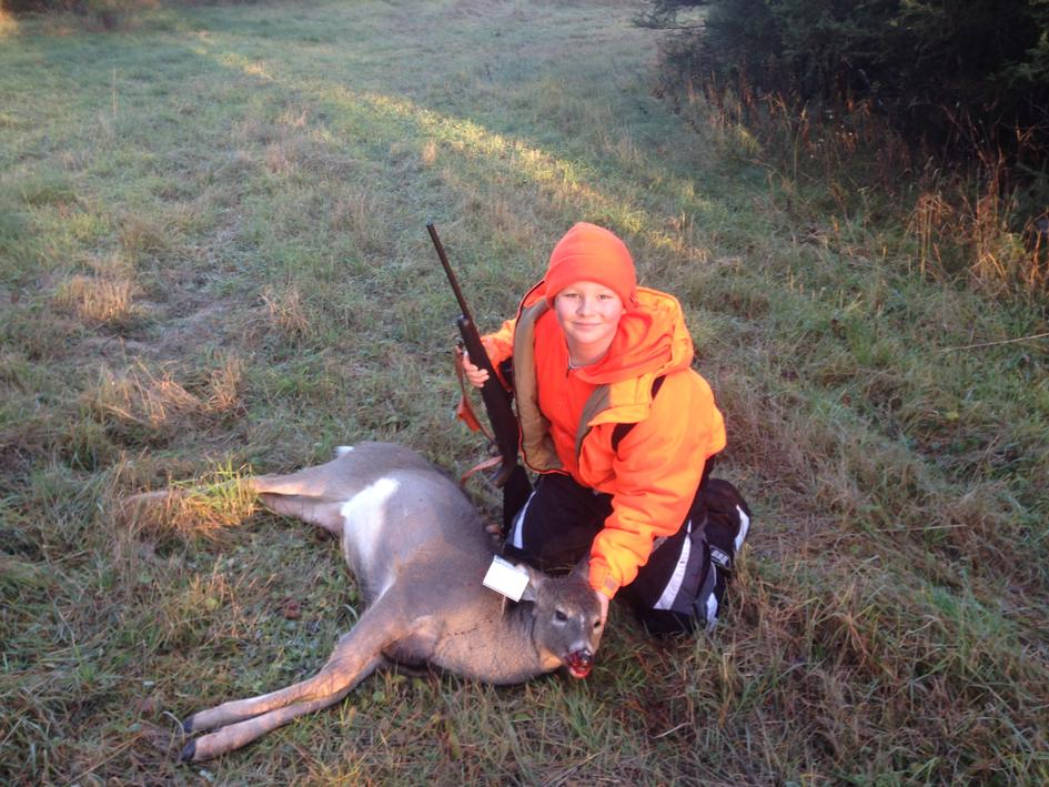 It's a first deer for Ben Lind, 12 of Iron