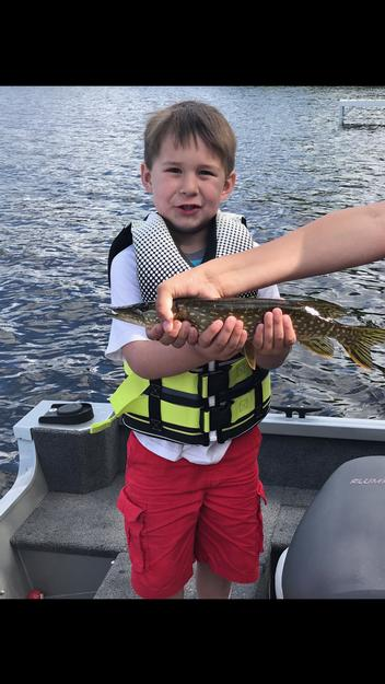 First northern for Jayden at Uncle Johnny's cabin on Lake Leander