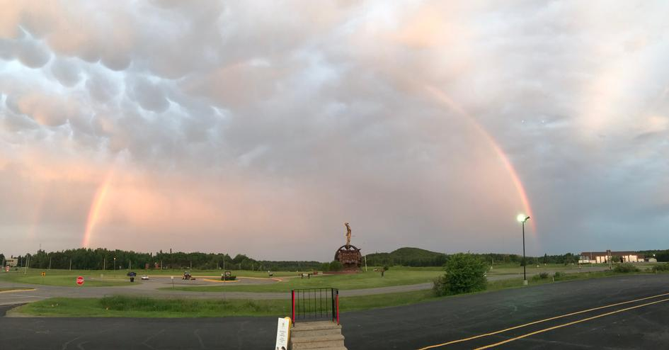 Rainbow over the Ironman, Chisholm