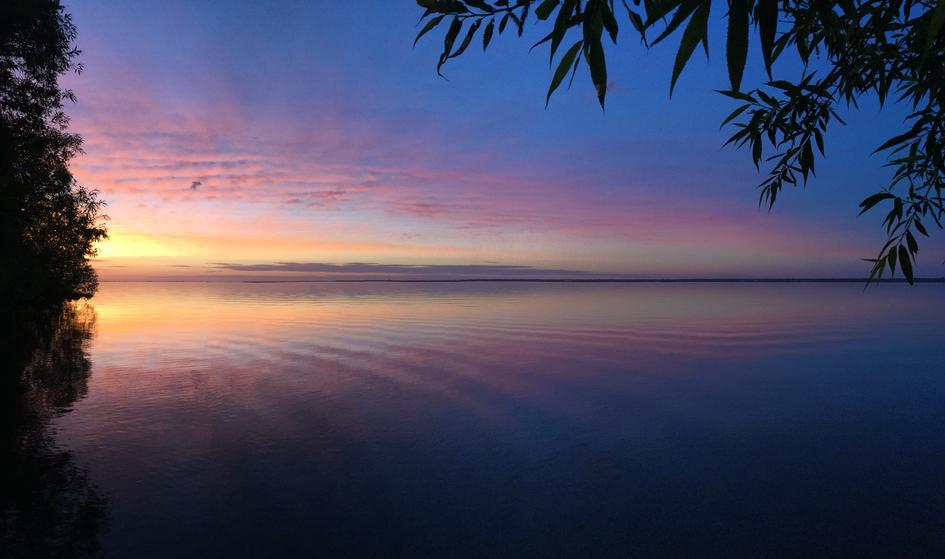 Dawn Sky over Chequamegon Bay, between Ashland and Washburn