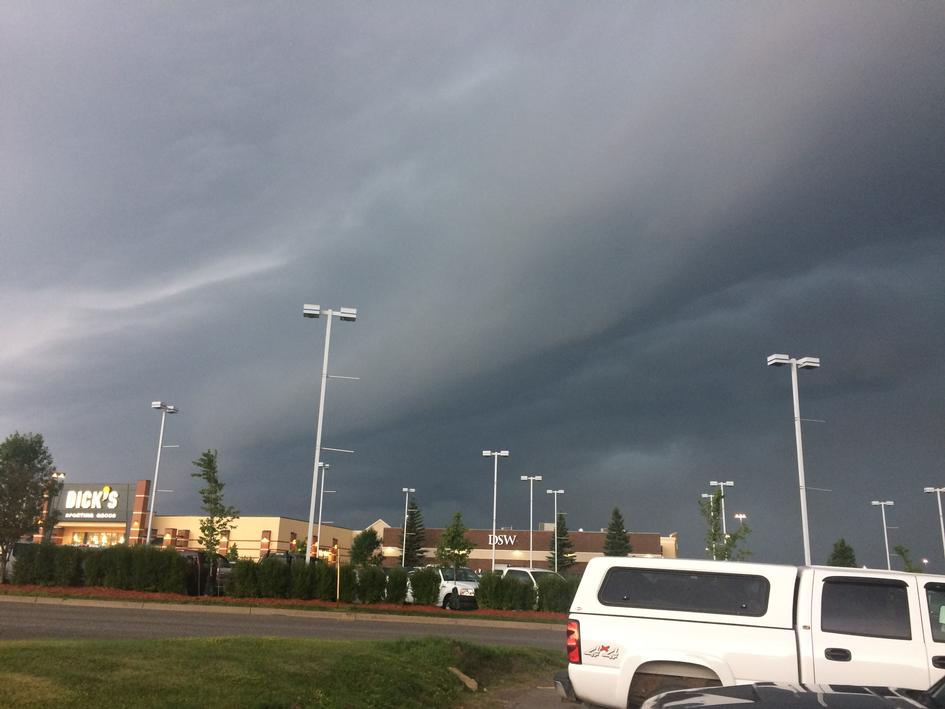 Stormy Sky at Miller Hill Mall, July 21, 2017