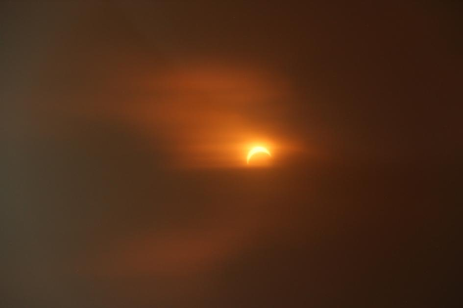 Solar eclipse over West Duluth