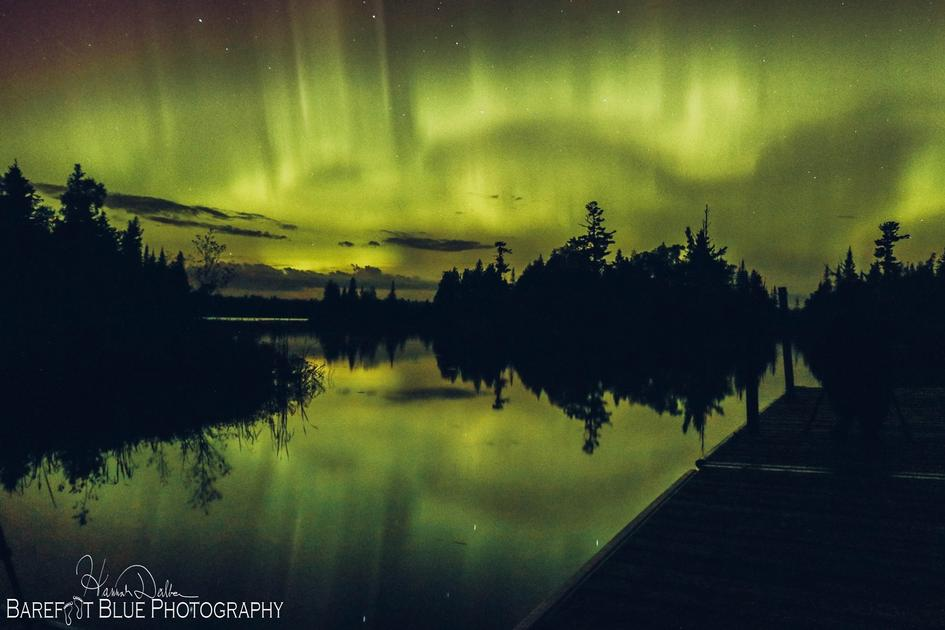 Northern Lights near Two Harbors