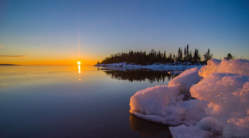 Grand Marais Sunrise Shifting ice