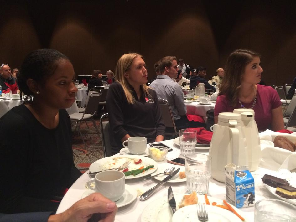 WDIO runners attend the Marsh Nelson Media Luncheon