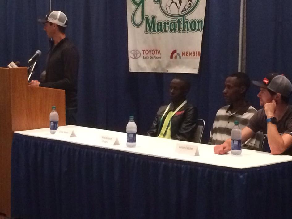 Men's Elite Athletes Press Conference - Includes three-time defending marathon champion Elisha Barno