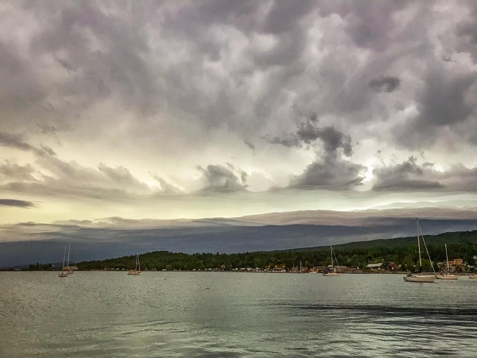 Storm moving toward Grand Marais