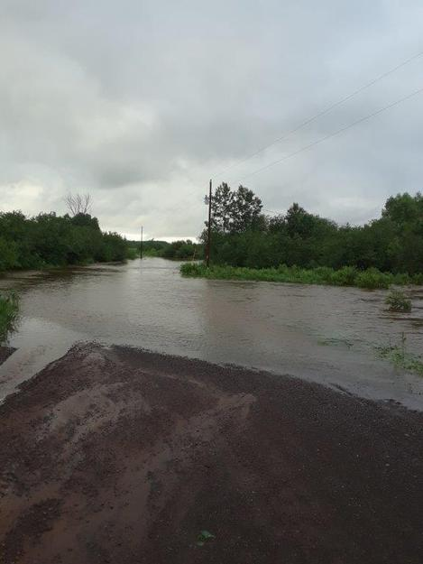 Flooding Muskeg Road in Oulu