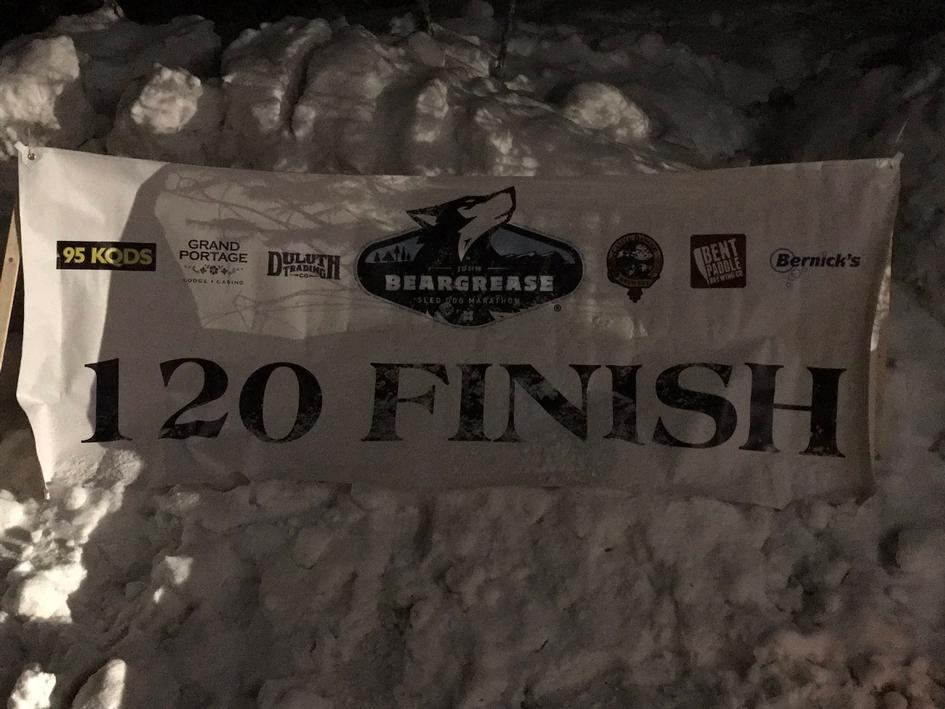 Finish Line of the Beargrease Mid-Distance Race