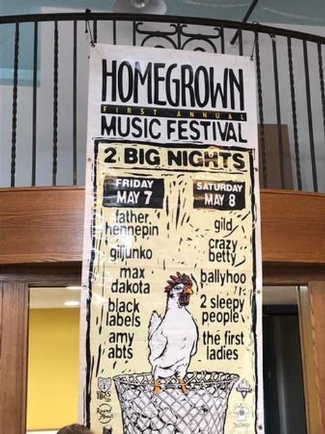 Original Homegrown Music Festival Poster
