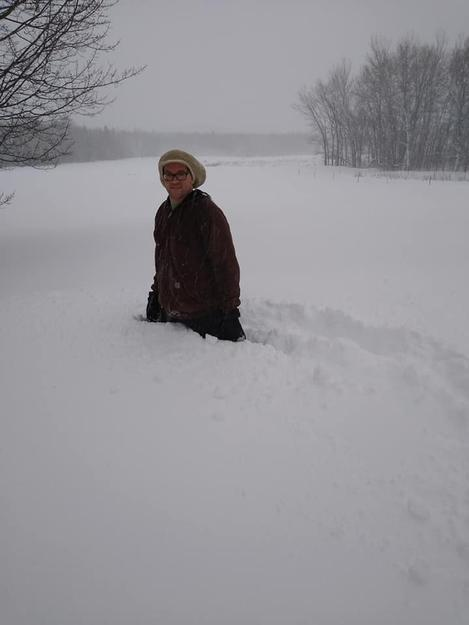 Had to walk half a mile to get tractor to plow the family out near Bayfield