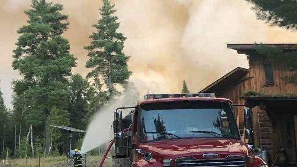 Protecting a structure near the Greenwood Fire