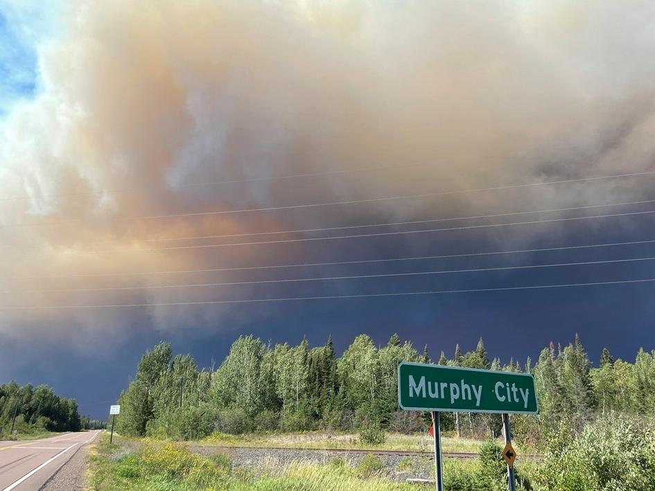 Greenwood Fire  view from Highway 1