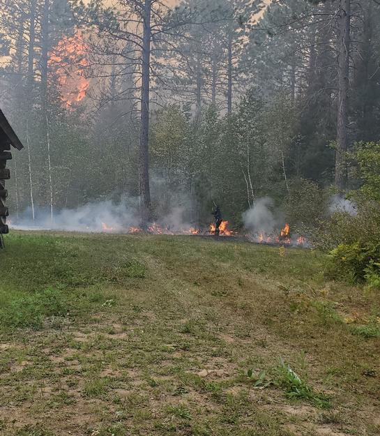 Fighting the Greenwood Fire on August 22