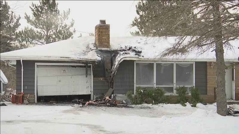 Fire Damages Vacant Home in Midway Township