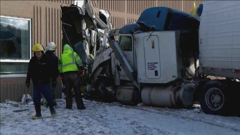 Semi Crashes Into Minn. School, Hurting 4 People