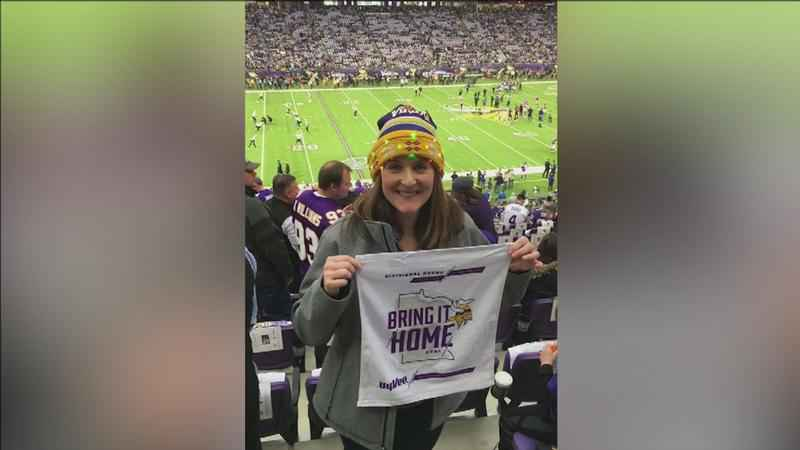 A Virginia woman is traveling to Philadelphia for the Vikings game.