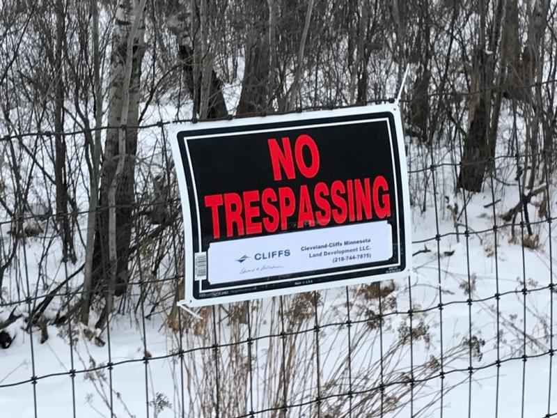 Cleveland Cliffs starts fencing off their property in Nashwauk.