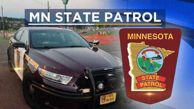 Two Minnesota State Patrol squad cars were struck, both in separate incidents, on state Highway 100 on Monday morning.