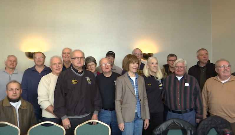 Senator Tina Smith met with retirees about an issue they're facing with pensions.