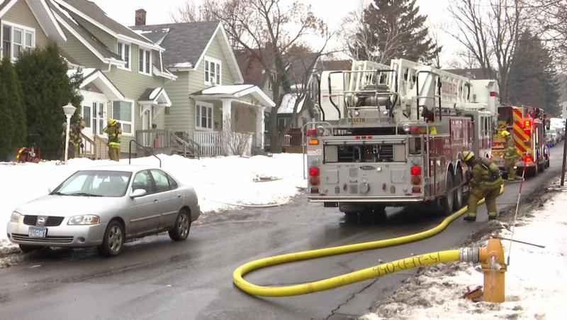 The Duluth Fire Department responded to a fire at a residence on North 27th Ave. West, on Saturday.