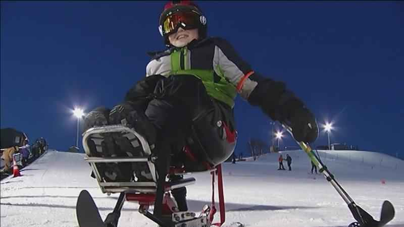 The annual mono-ski event encourages skiers with disabilities to stay active and build confidence.