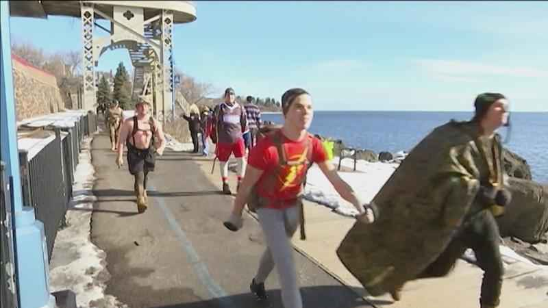 The 'Nearly Naked Ruck March' will feature a group of people hiking around 10 miles around Duluth' Lakewalk in long underwear, to raise money for '23rd Veteran.'