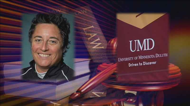 The trial in Shannon Miller's federal discrimination lawsuit against UMD got underway Tuesday.