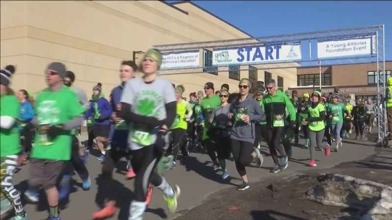 Runners�suited up in green on Saturday�for the fifth annual Saint Fennessy�4K run on Saturday in Hermantown.