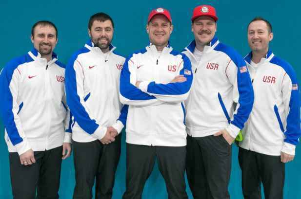 USA men's curling team throwing out 1st pitch at Twins home opener