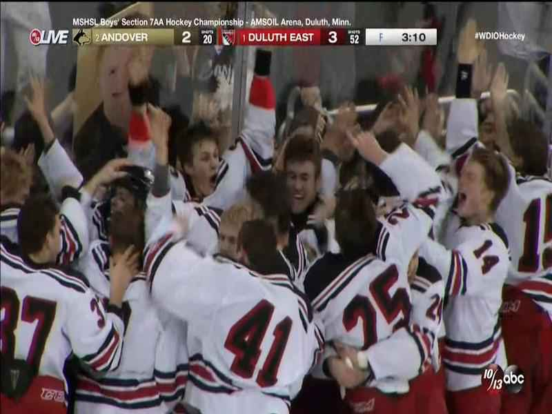 Duluth East defeated Andover to advance to state.