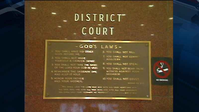 This Ten Commandments plaque has been removed from the St. Louis County Courthouse in Hibbing.