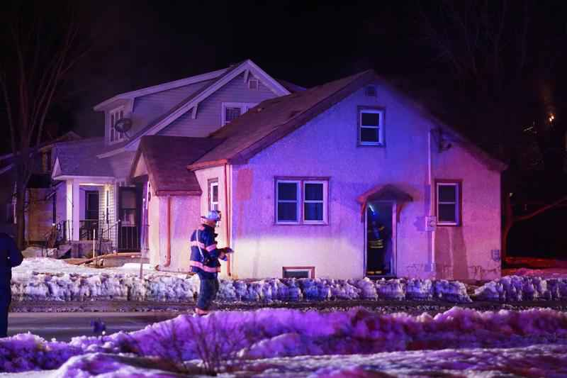 The fire was reported around 7:00 p.m. Wednesday and authorities arrived to find smoke coming from the house.�