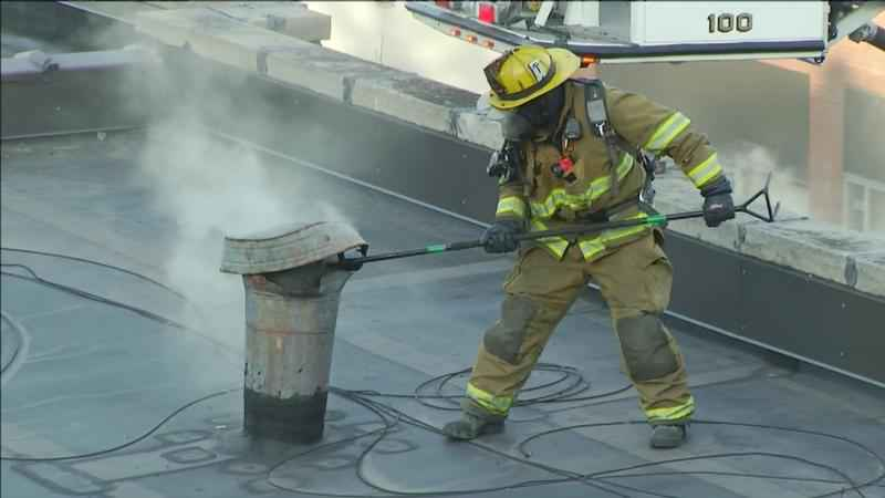 An apartment complex in Duluth was damaged Monday evening, after an unattended grease fire.