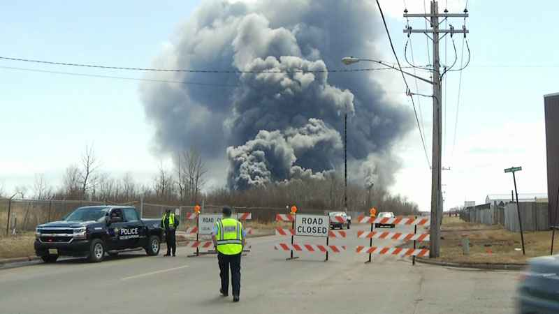 The Superior Fire Department says there are no fatalities in the explosion at the Husky oil refinery