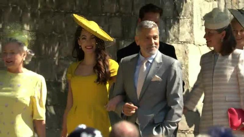 George and Amal Clooney were among the guests at the royal wedding.