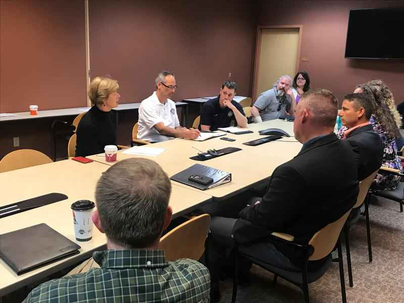 Sen. Tammy Baldwin (D-Wis.) held a discussion about the opioid epidemic in Superior on Friday.
