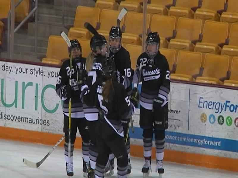 7e07e292e03 The Minnesota Whitecaps skated in an exhibition game vs UMD in early 2017.