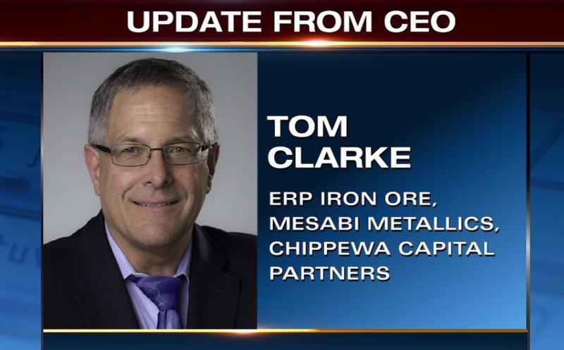 Tom Clarke said they've secured an agreement for pellets made in Nashwauk.