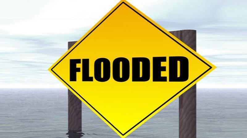 Motorists should not drive through flooded roadways. If there is water over the road, turn around.