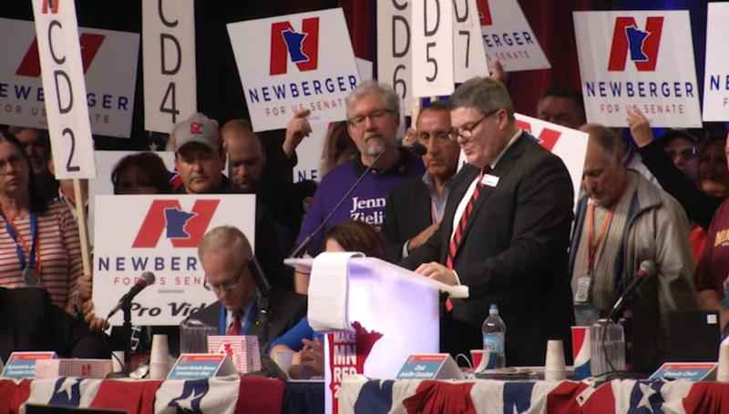 Jim Newberger was endorsed as a candidate for one of the U.S. senate seats.