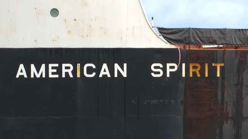 The American Spirit left the Port of Duluth-Superior around 9 a.m. Monday.