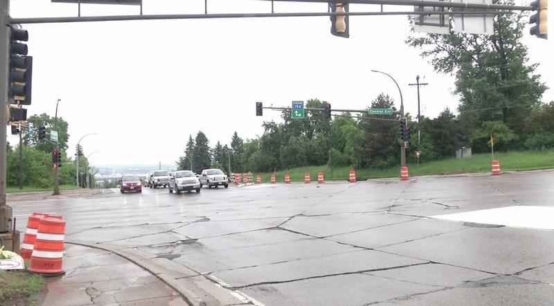 Motorists will encounter traffic restrictions at the intersection of Central Entrance and Mesaba Avenue beginning Monday�in Duluth.