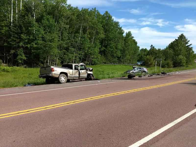 A person died in a crash in Bayfield County on Friday.