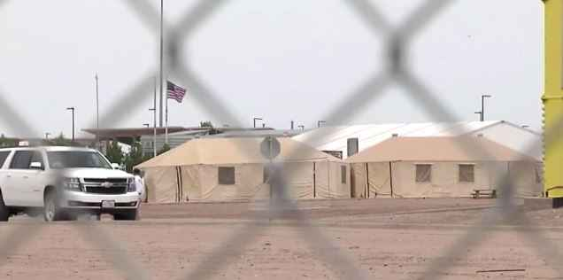 Hundreds of children are waiting away from their parents inside a Border Patrol holding facility in Texas, with groups of 20 or more children to a single cage.