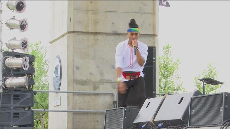 Folks in Duluth celebrated their love for international music at the 13th annual Bayfront�Reggae & World Music Festival at Bayfront Festival Park on Saturday.