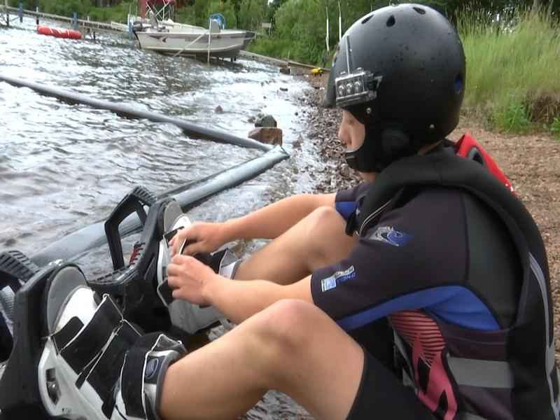 HydroFlight Sports spend a weekend at Skyport Lodge bringing water sports to the resort.