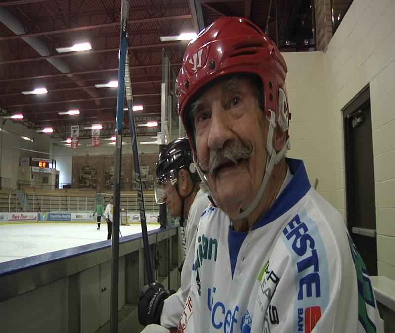 World Record Holder for Oldest Ice Hockey Player Mark Sertich