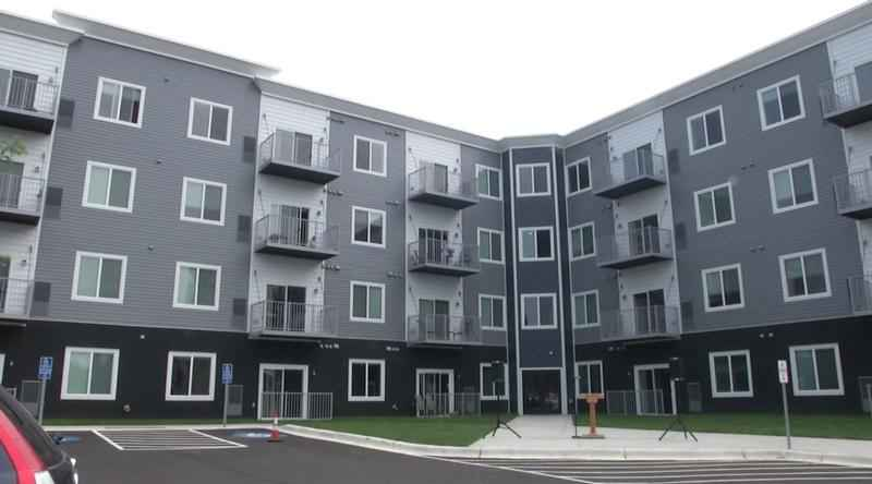 The District Flats apartment complex features 72 units, and cost just under $14 million to build.