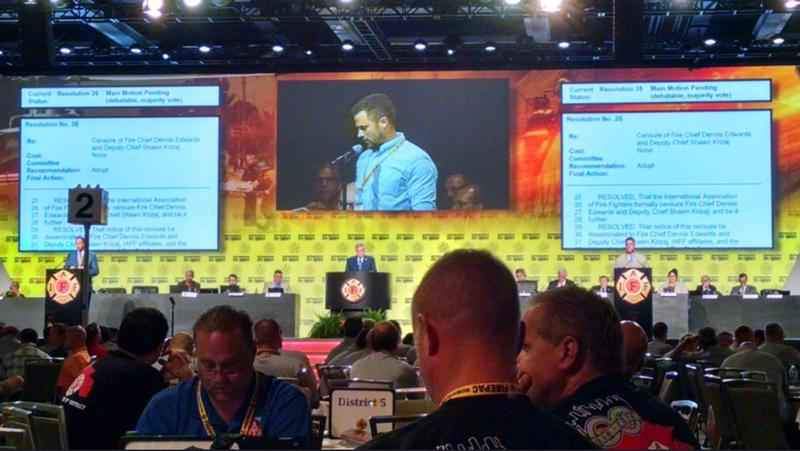 Two leaders on the Duluth Fire Department have been censured by the delegates at the IAFF convention.